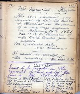 Page 17a War Memorial