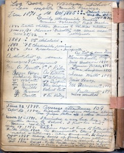 Page 40 Log Book on Wesleyan School